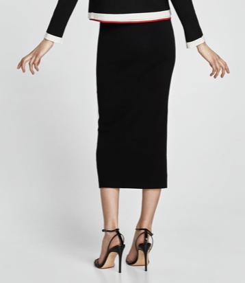 Black Zara skirt 2