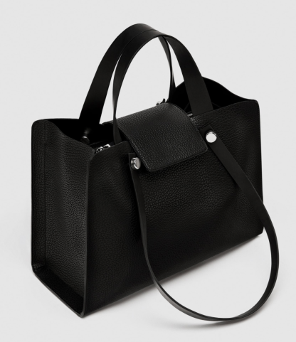 City Bag with Metal Detail