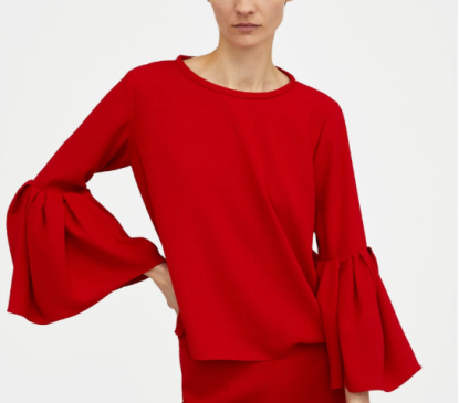 Red Pleated 1