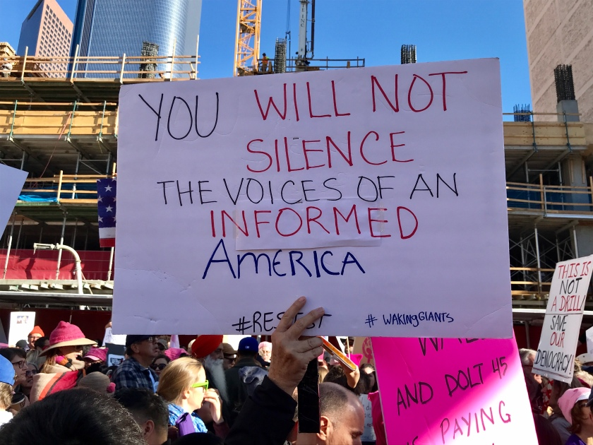 You will not silence the voice of An informed America.JPG
